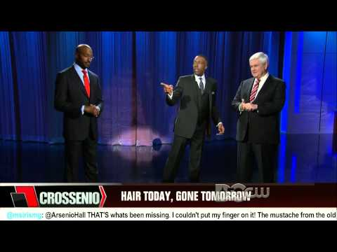 Arsenio Hall Show: Van Jones debates Newt Gingrich on #Goateegate