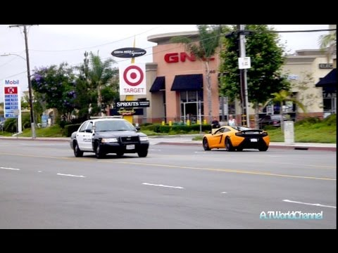 McLaren MP4-12C BUSTED By the Cop!