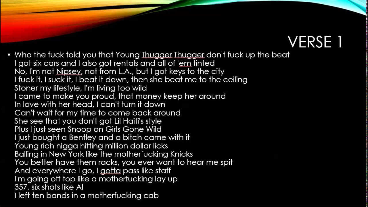 young thug lyrics