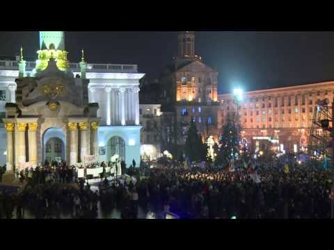 Kiev protesters demand Ukraine's membership to EU