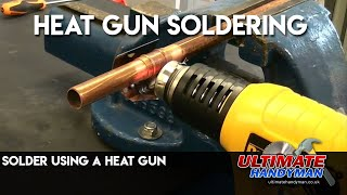 How to Solder using a heat gun