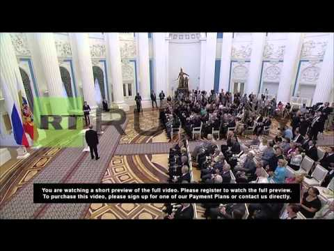 Russia: Putin decorates citizens with state honours at Kremlin