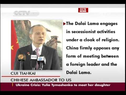 Chinese ambassador to U S  lodges representations about Obama meeting with Dalai Lama