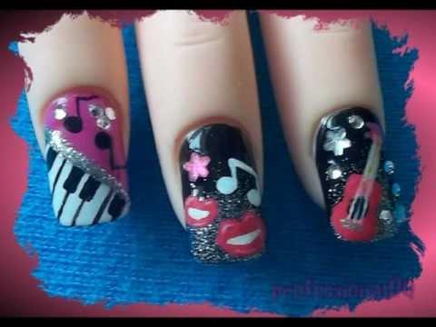 Rockstar Inspired Nail Art Nails Video