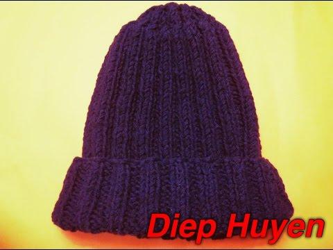Đan mũ len  phần 1 Knitting Ribbed hat part 1