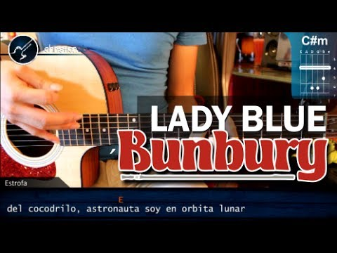 Como tocar - Lady Blue - ENRIQUE BUNBURY en guitarra Acustica (HD) Tutorial