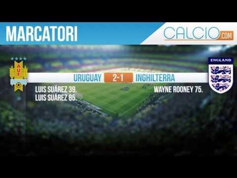 Uruguay - Inghilterra: 2 - 1 Mondiali Brasile 2014 19-06-2014