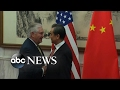 Secretary of State Rex Tillerson meets with Chinese officials