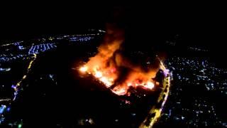 ภาพมุมสูง ไฟไหม้ซุปเปอร์ชีป ภูเก็ต คืนวันที่ 16 ต.ค. 56