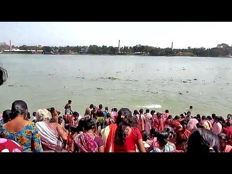 People going Tarakeswar to take Ganges water after Ganga snan on shiv ratri