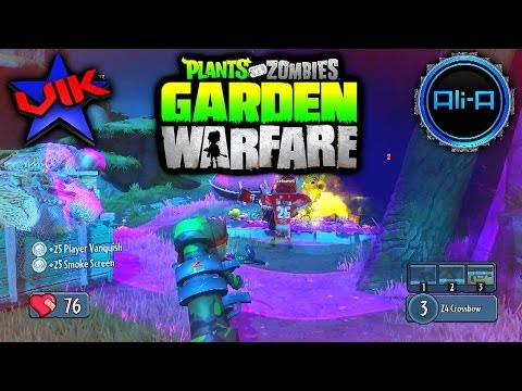 Plants Vs Zombies Garden Warfare PC #1 - Gardens and Graveyards with Vikkstar & Ali-A