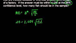 AP Statistics: Find Sample Size for a Margin of Error - YouTube