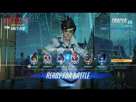 Overwatch 03 23 2018 SoloQ 33 7 Bastion, Tracer, Sombra  King's Row win  #1357