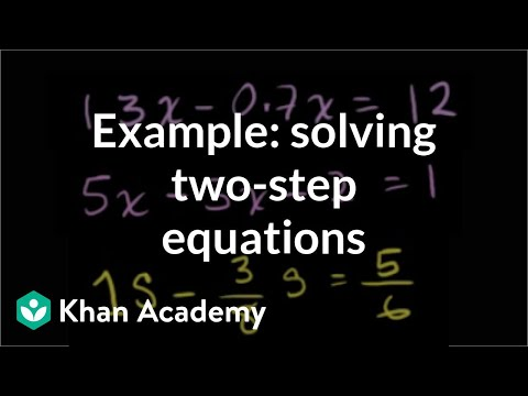 Two-Step Equations