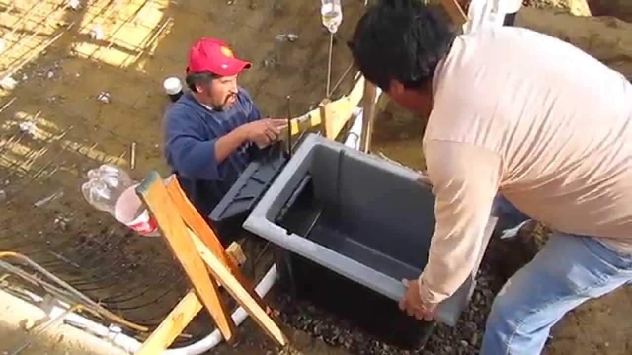 Koi pond construction part 3 shotcrete prep skimmer for Koi pond skimmer installation