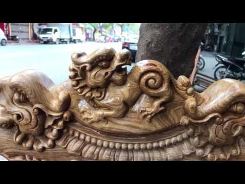 Đồ gỗ thành luân xong mộc bộ minh quốc nghê gỗ hương vân(chú phan Quảng ninh)23-1-2017