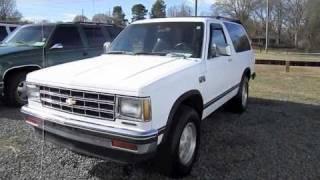 1989 Chevrolet S-10 Blazer 2-door Start Up, Engine, And In