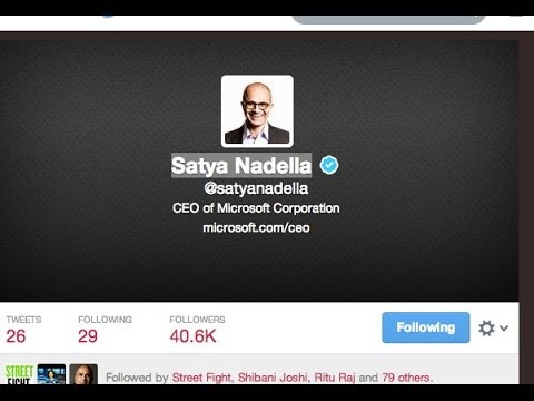 Satya Nadella Microsoft CEO Twitter Tweets For First Time In 4 Years