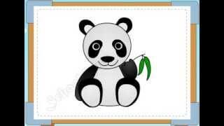 BÉ HỌA SĨ - Thực hành tập vẽ 202: Vẽ gấu trúc