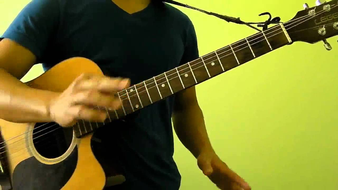 how to play titanium on guitar without capo