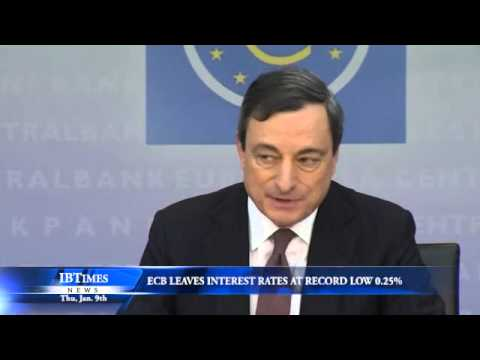 ECB Leaves Interest Rates at Record Low 0.25%