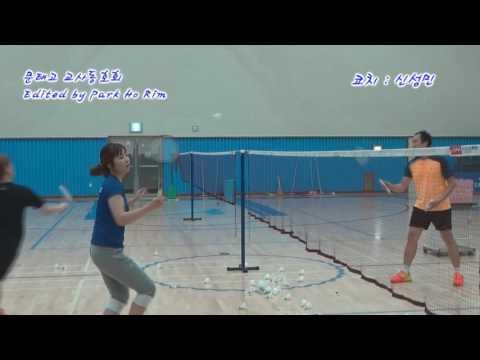다시 시작하는 배드민턴 레슨-헤어핀 연속동작(badminton lesson hairpin continuous stoke - sin sungmnin)
