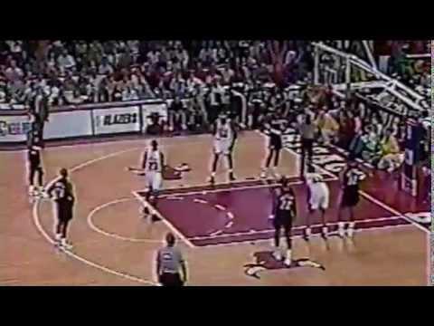 1992 NBA Finals | Game 6 | Blazers at Bulls | Michael Jordan 33 Pts | Finals MVP