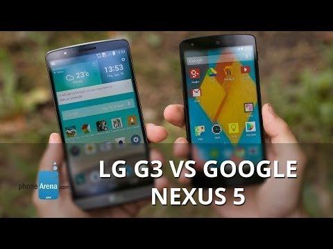 LG G3 vs Google Nexus 5