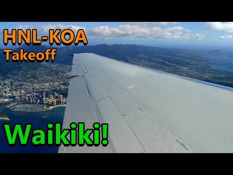 Hawaiian airlines 717 start up and takeoff