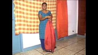 Tying Iyer Madisar Saree Iyer Madisar Saree 9 Yards