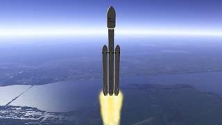 SpaceX Falcon Heavy tribute Orbiter Space Flight Simulator 2016 Edition