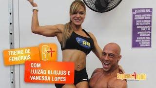 Treino de femorais com Luiz e Vanessa