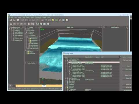 Create a large-scale water simulation in RealFlow (6 of 9)