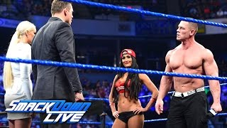 "John Cena and Nikki Bella storm onto ""Miz TV"": SmackDown LIVE, March 28, 2017"
