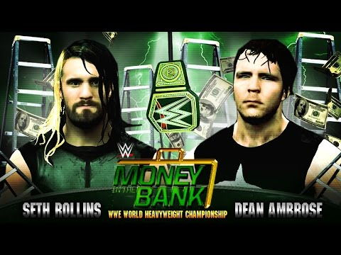 Money in the Bank 2015 - Seth Rollins vs Dean Ambrose - WWE Championship - WWE 2K15 Mods