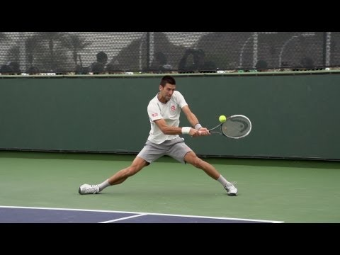 Novak Djokovic Backhand In Super Slow Motion 4 - Indian Wells 2013 - BNP Paribas Open