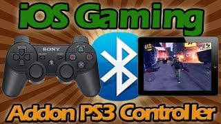 HOW TO CONNECT PS3 CONTROLLER TO IPAD AND PLAY ANY IOS