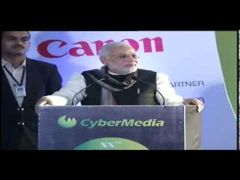 Shri Narendra Modi addressing at the CyberMedia ICT Business Awards 2013 in Delhi - Speech