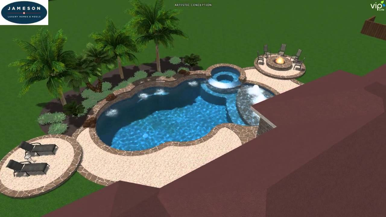 Pool studio 3d swimming pool design youtube for 3d swimming pool design