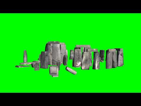 Stonehenge - stone circle - green screen effect