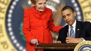 AP-Obama says Nancy Reagan charming and gracious