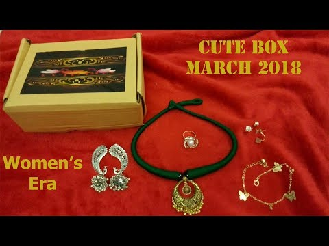 Cute Box March 2018 |Women's Era Edition |Unboxing and Review| Coupon Code | SahiJeeth