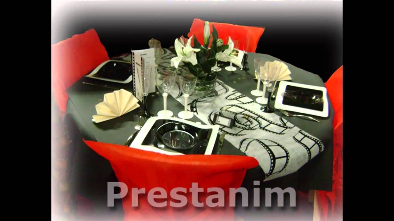 decoration et video de table pour un mariage anniversaire. Black Bedroom Furniture Sets. Home Design Ideas