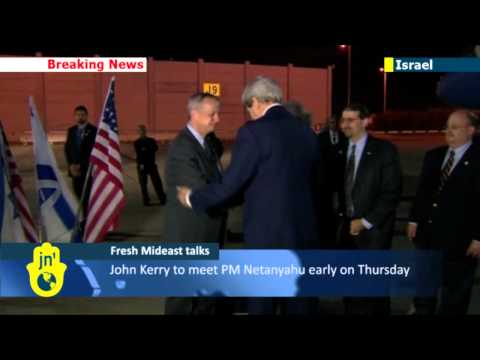 John Kerry in Israel to push peace process: US has led efforts to restart Israeli-Palestinian talks