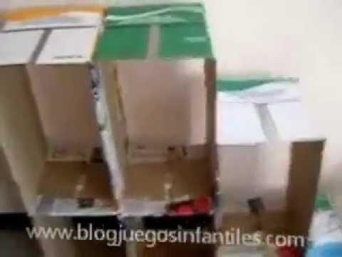 C mo hacer un mueble de cart n youtube - Como construir un zapatero ...