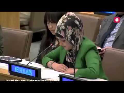 Türbanlı Türk Kızı BM'de Hollanda'yı Temsil ediyor