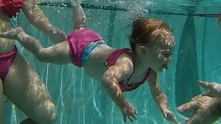 [Baby Elizabeth swimming underwater  - ISR Baby swimming acro...]
