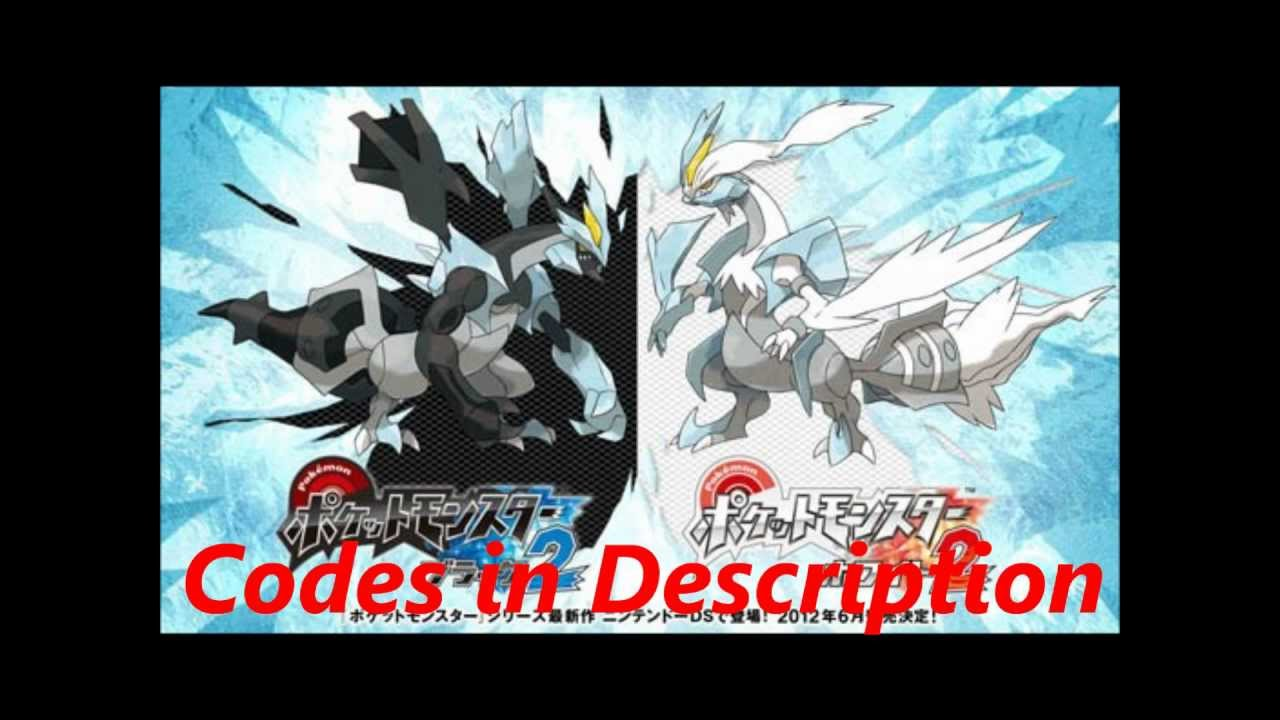 Pokemon Black and White 2 Action Replay Codes - YouTube