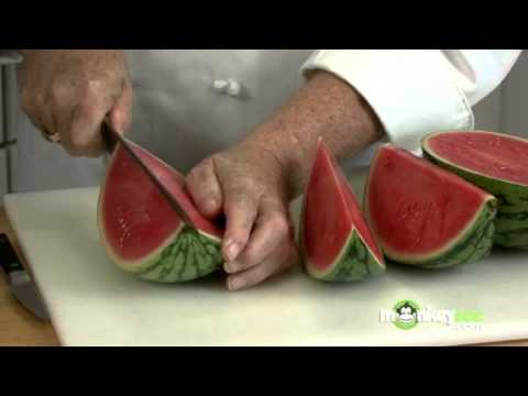 How to Carve a Watermelon Basket - Fruit Video How To Cut A Watermelon Basket