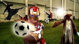 Apa Jadinya jika para superhero ini maen futsal
